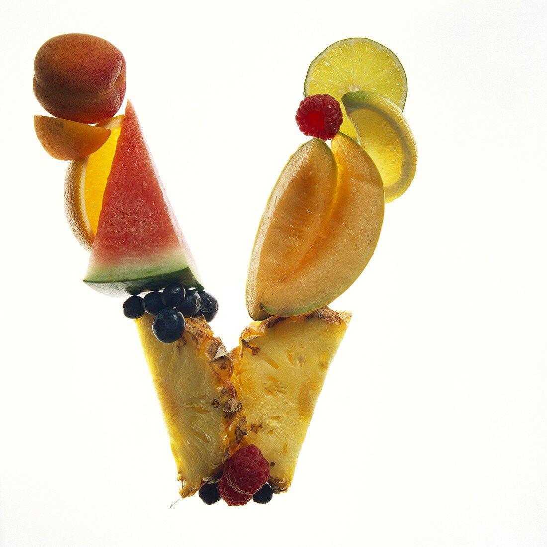 Fruit Forming the Letter V