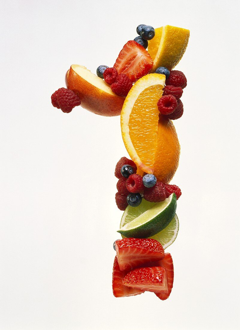 Fruit Forming the Number 1