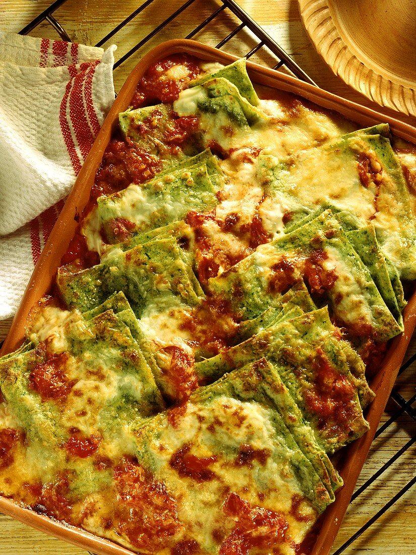 Fazzoletti verdi (Grüne Lasagne in Taschentuchform, Italien)