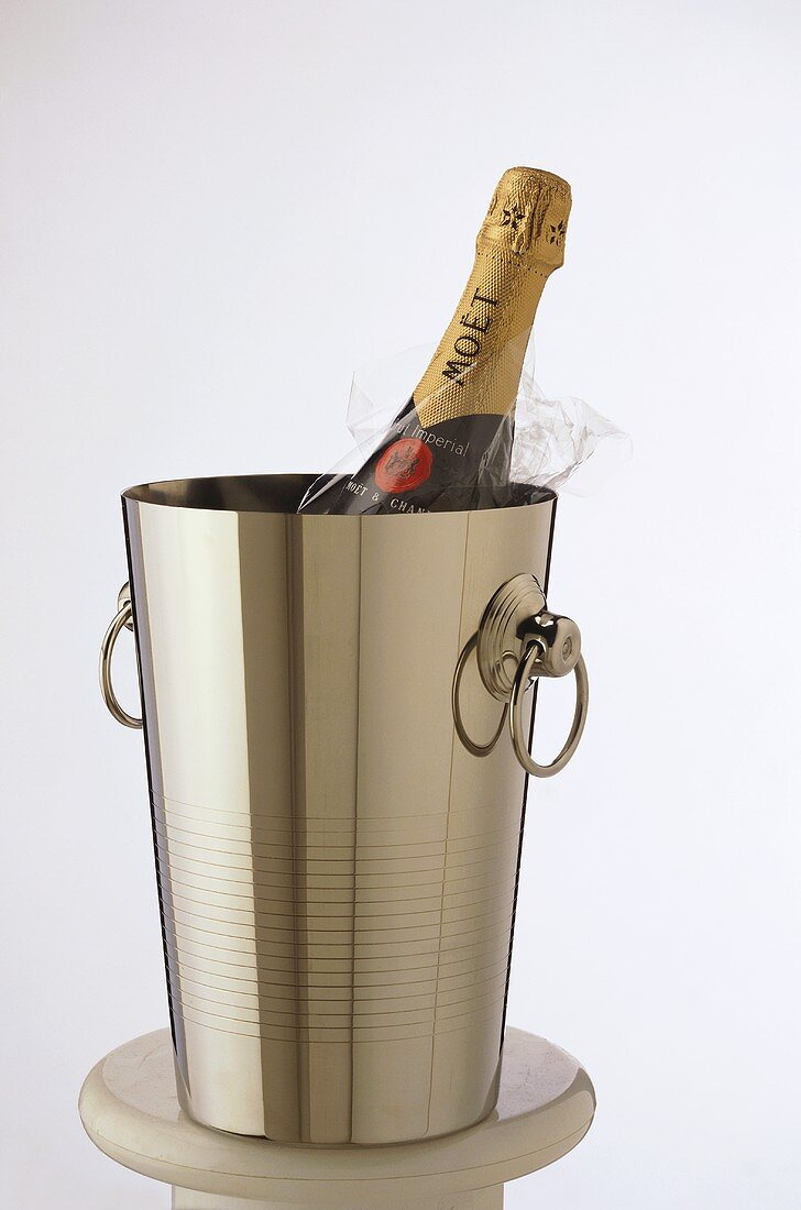 Champagne bottle (Moet & Chandon) in champagne bucket