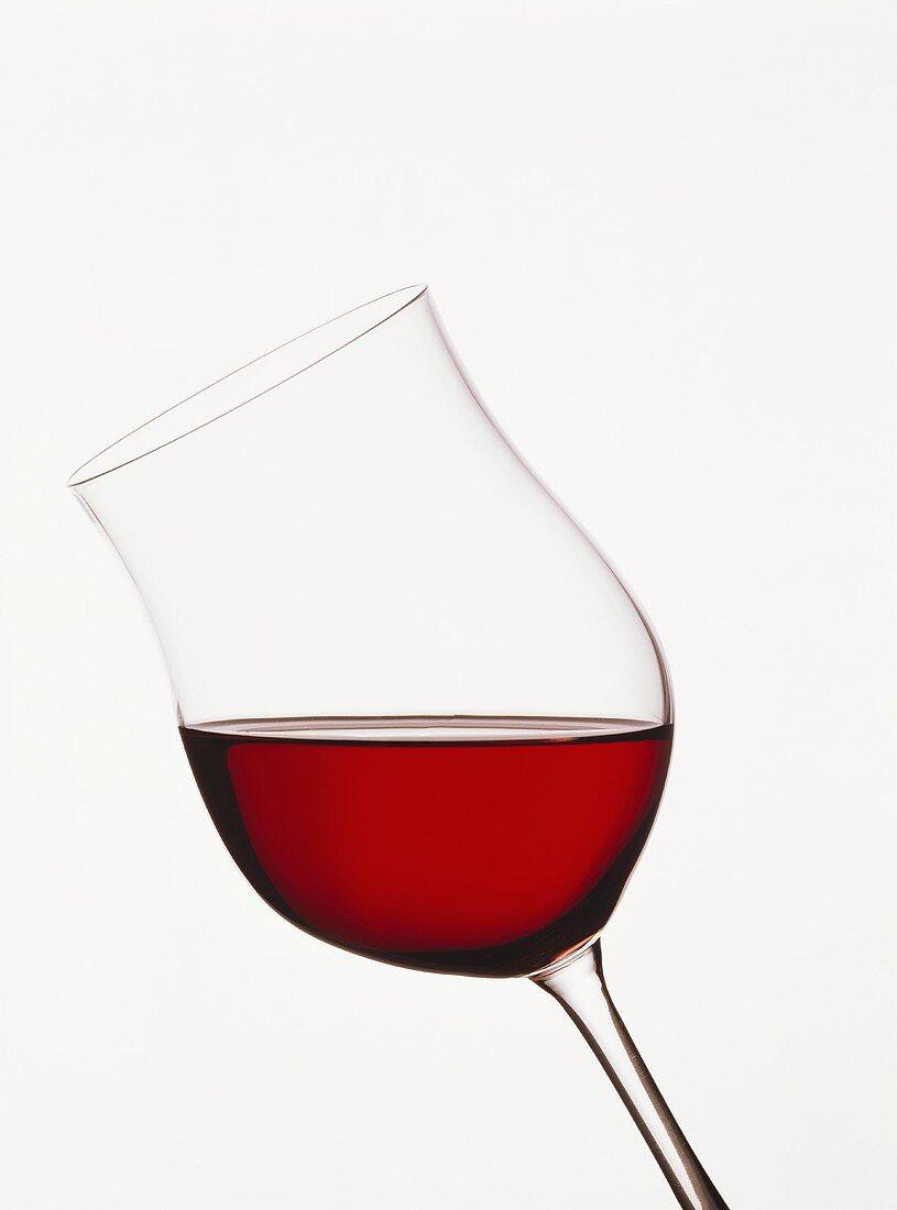 Glass of German Spätburgunder (bright ruby red colour)