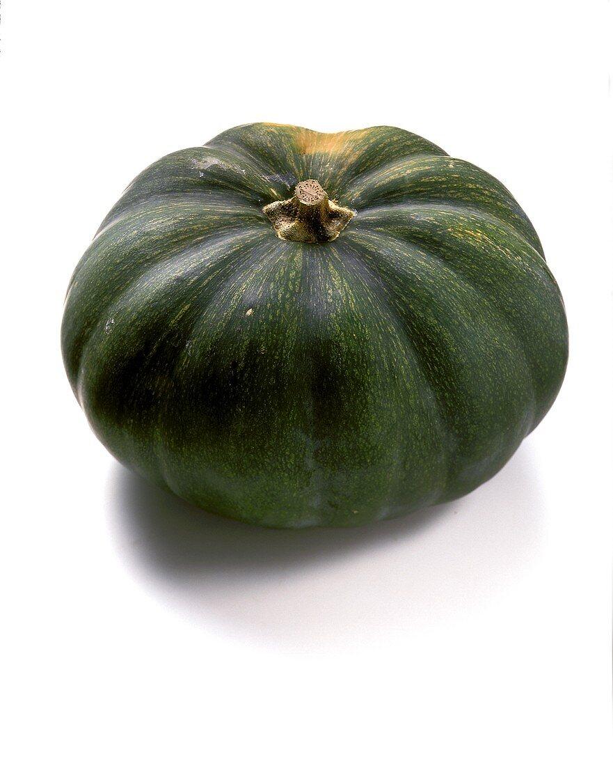 A green Japanese pumpkin