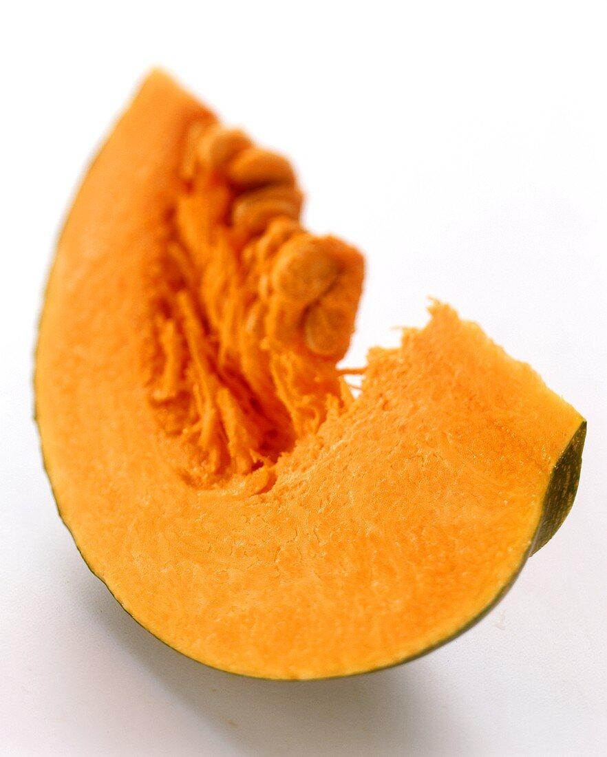 A piece of green Japanese pumpkin