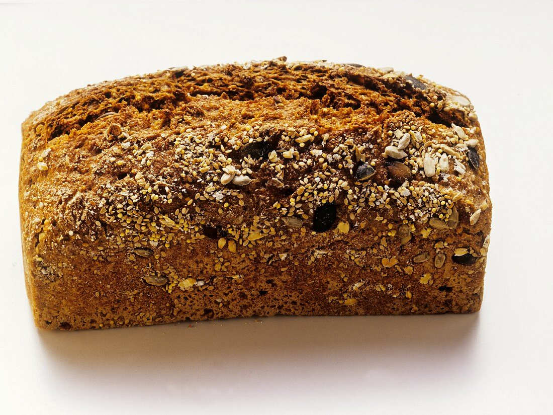 Wholemeal bread in bread tin