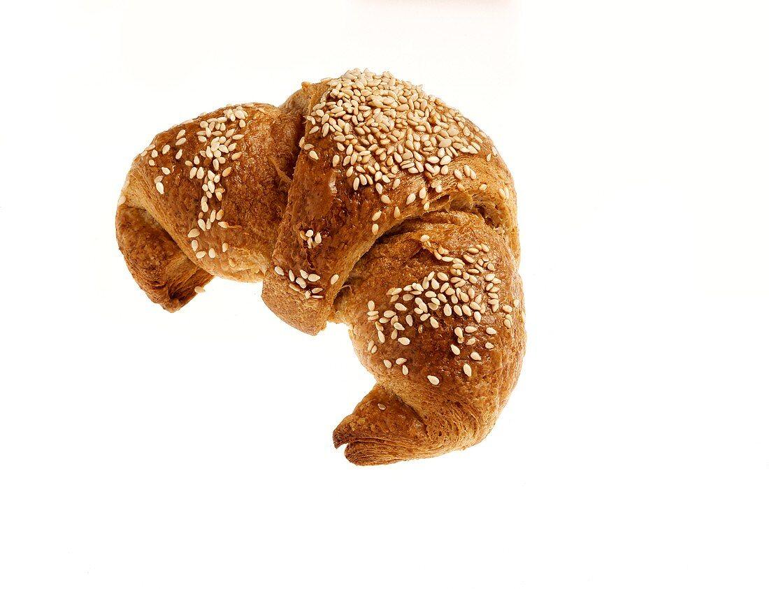 A sesame croissant