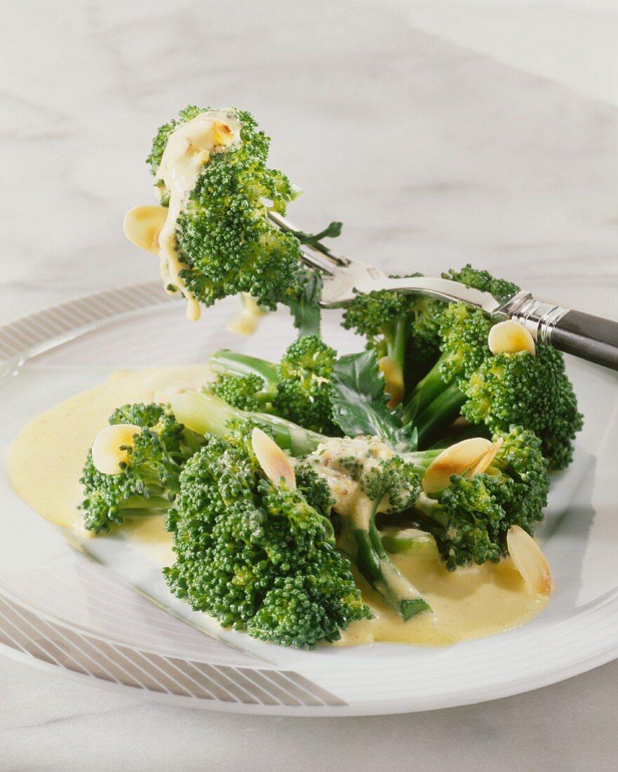 Broccoli with almond sauce