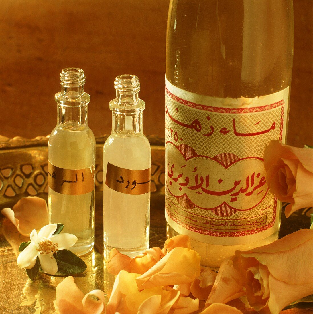 Orange blossom and rose water from Arabia