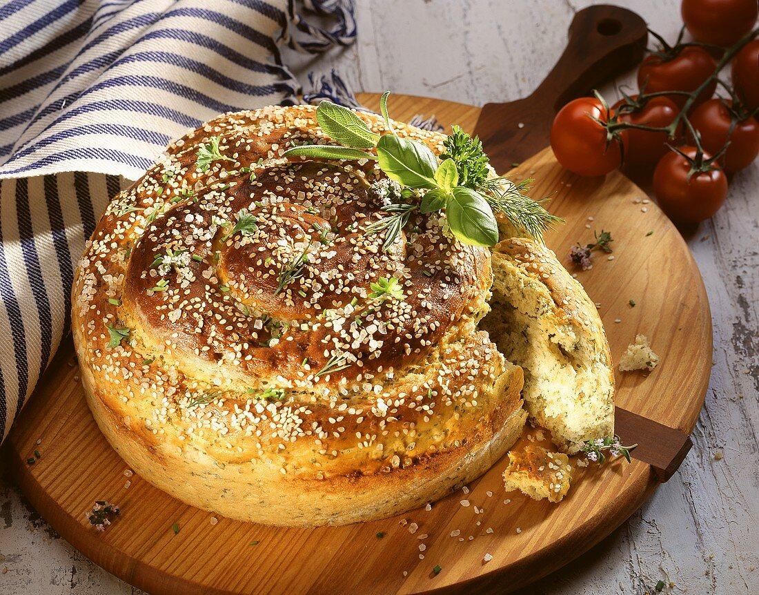 Potato and herb snail