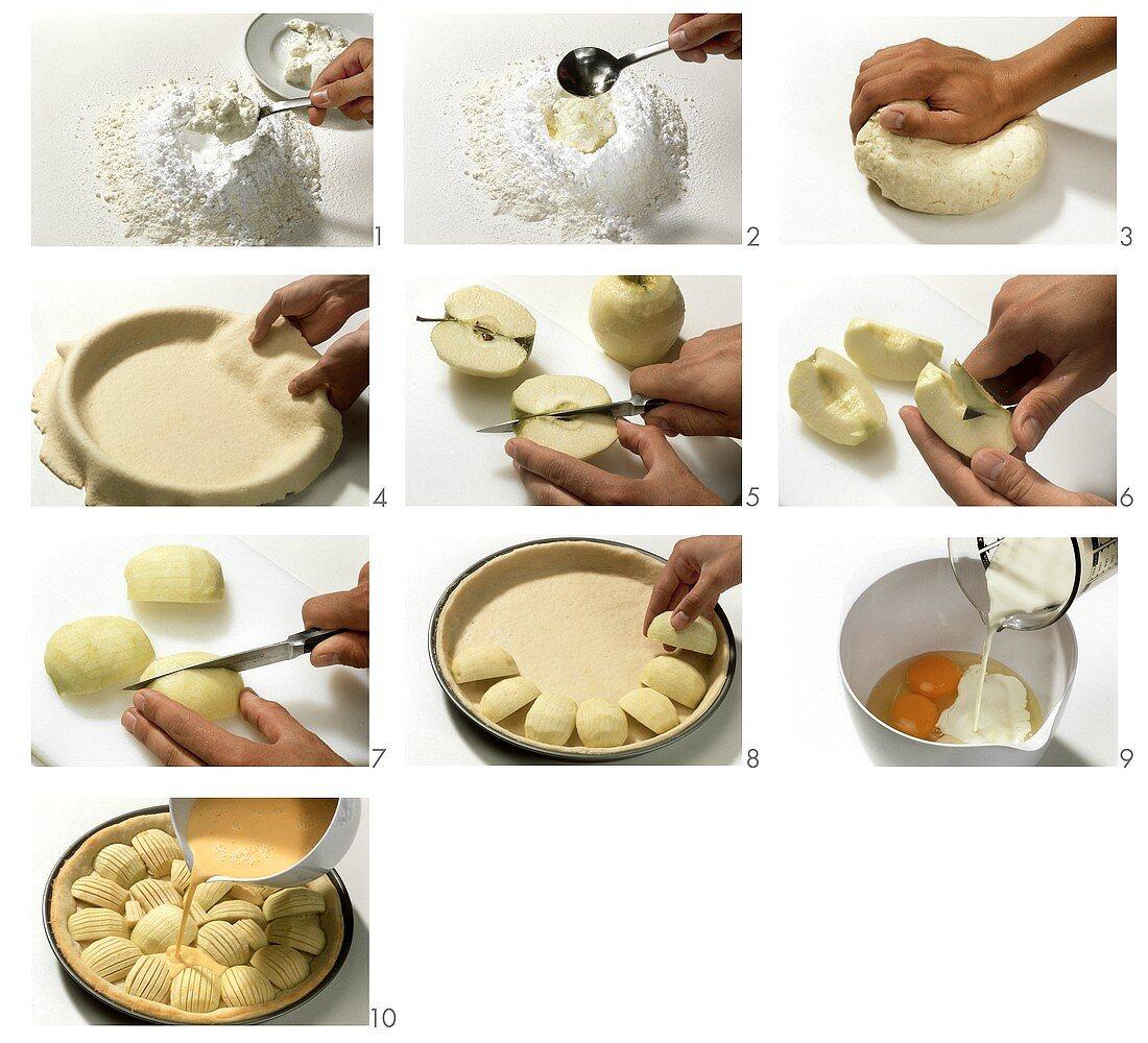 Making Alsatian apple cake