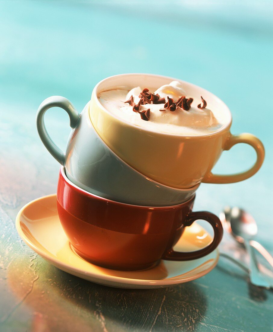 Coffee with Drambuie and cream topping