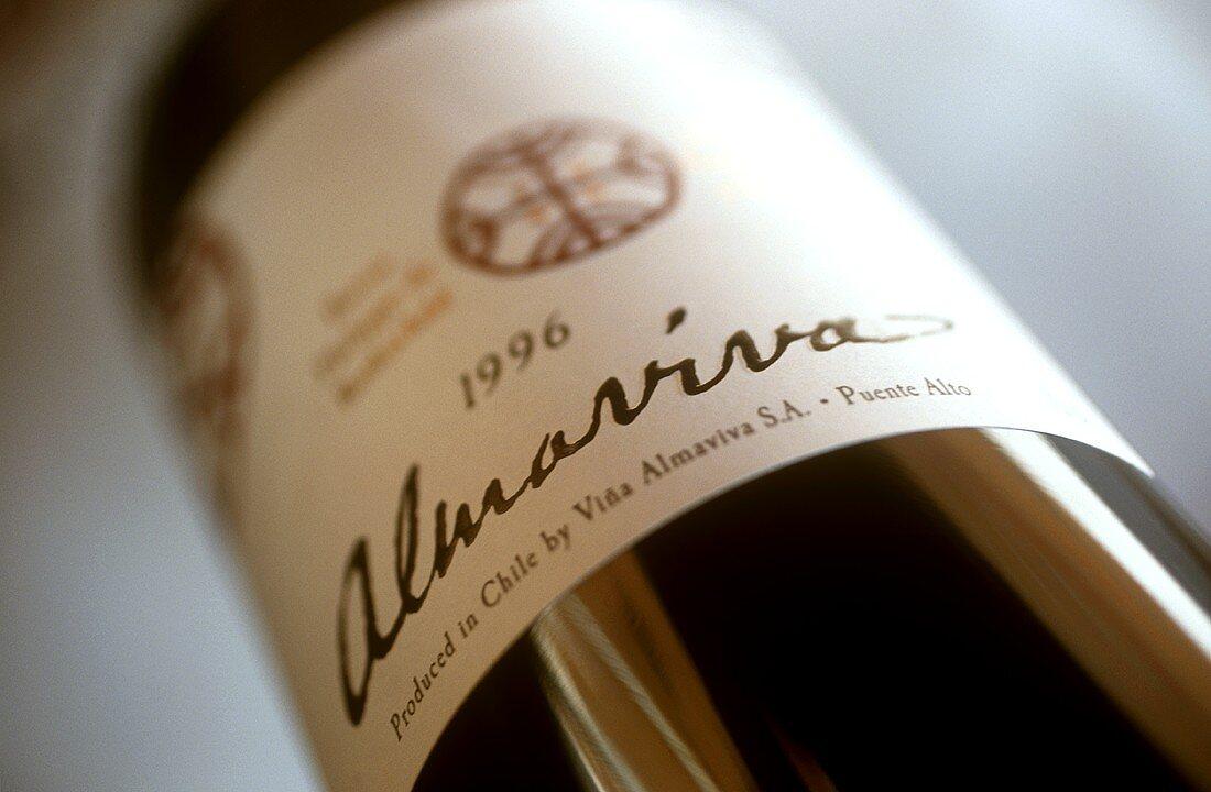 A bottle of Almaviva red wine (1996), Maipo, Chile