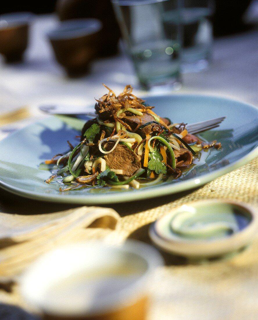 Kangaroo fillet salad