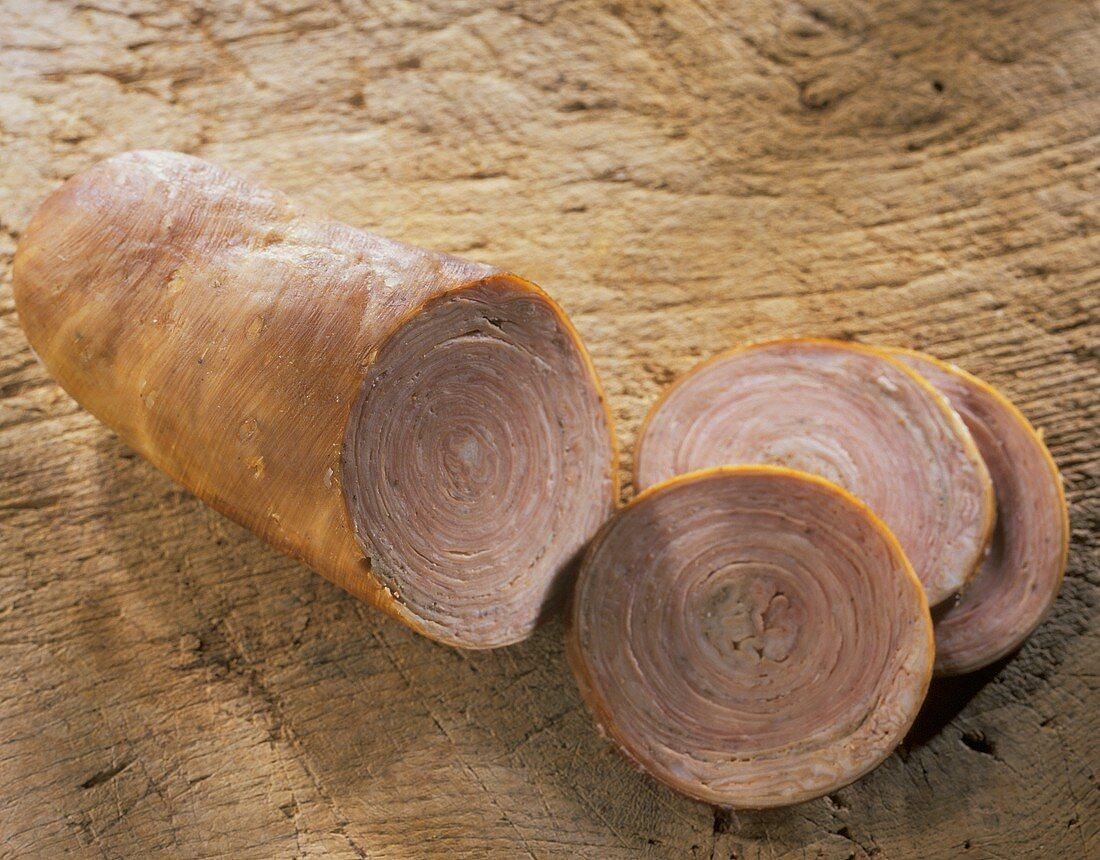 Andouille de Guémené: sausage made of pork or veal intestine