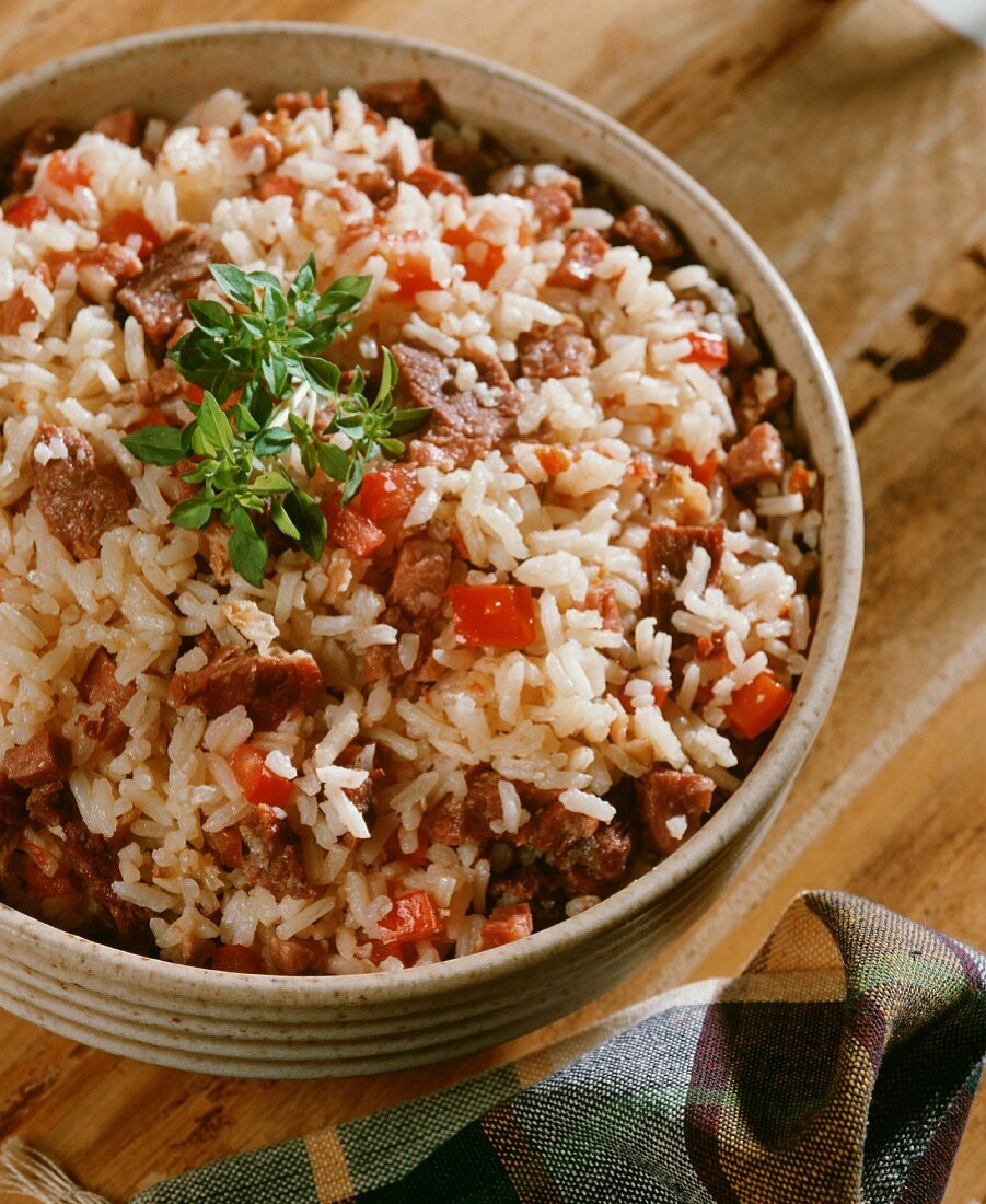 Brazilian rice and meat