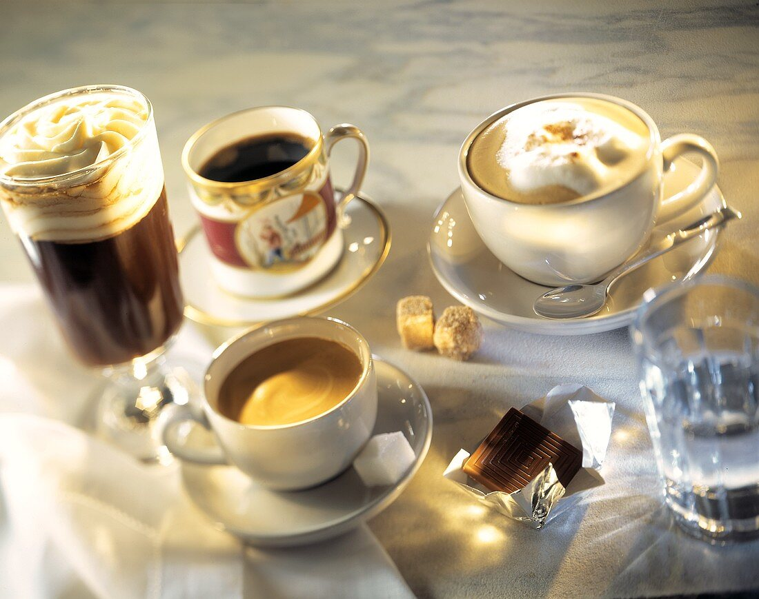 Coffee Drinks Still Life