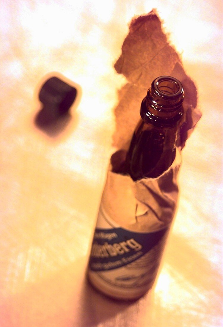 A small bottle of Underberg (aperitif)