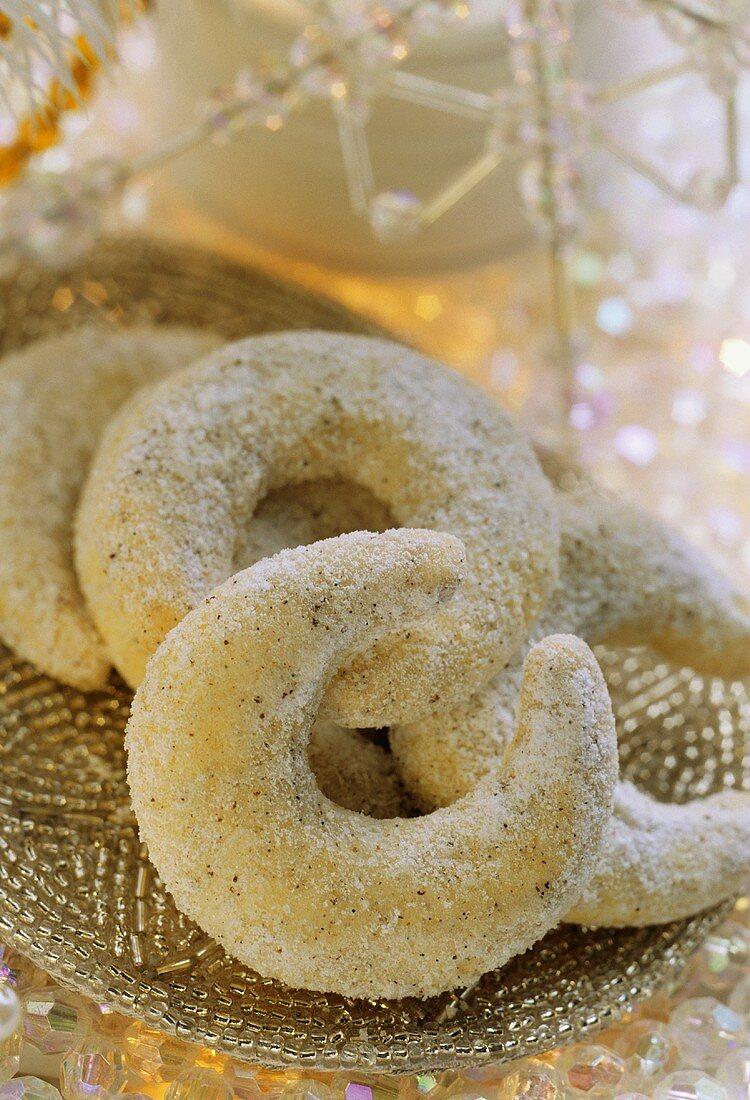 Hazelnut crescents from Austria