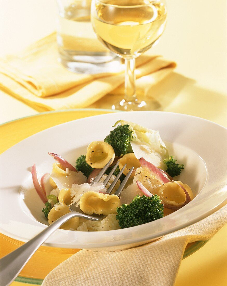 Orecchiette with broccoli, cauliflower and parmesan