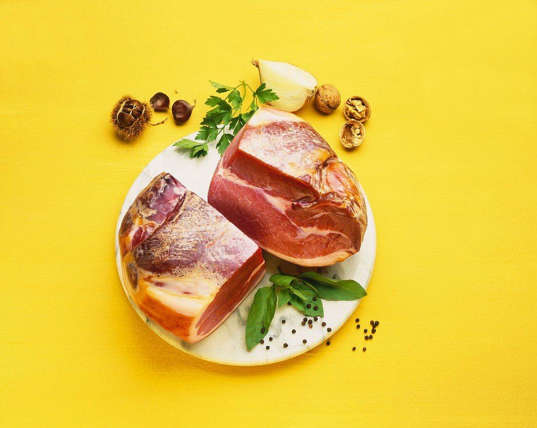 Air-dried ham from Bayonne