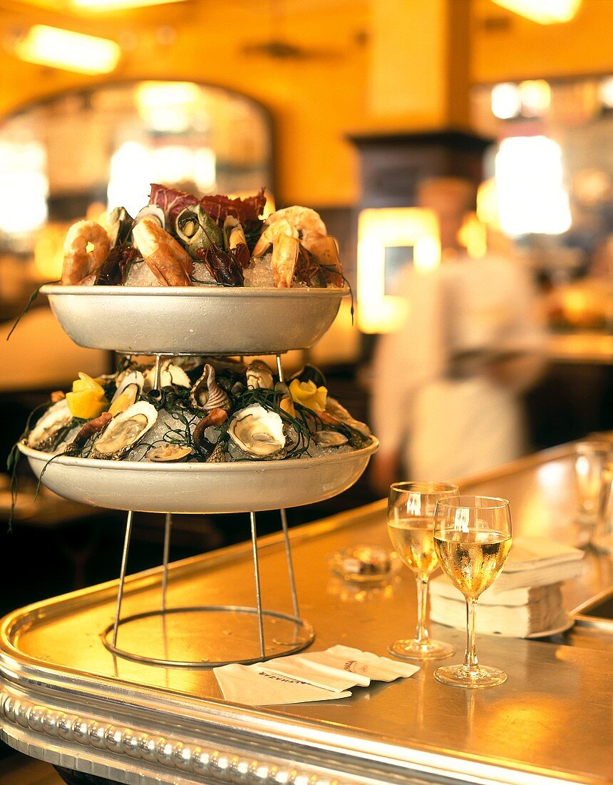 Seafood on tiered stand (Restaurant Baltaszar, New York)