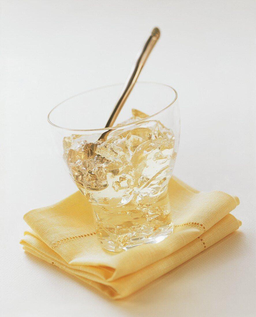 Semi-set champagne jelly