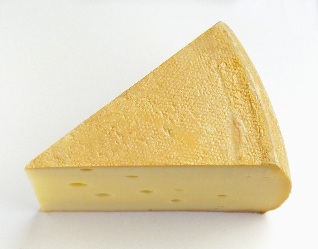 A piece of Alpine cheese