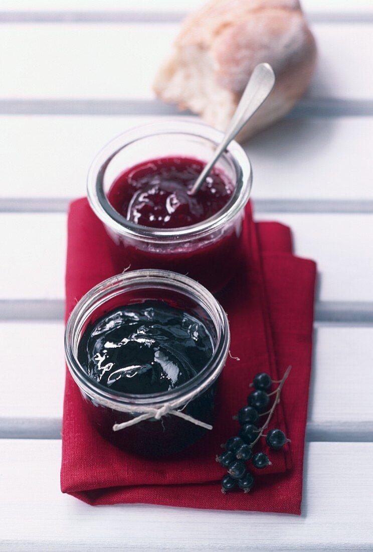 Blackcurrant and redcurrant jam