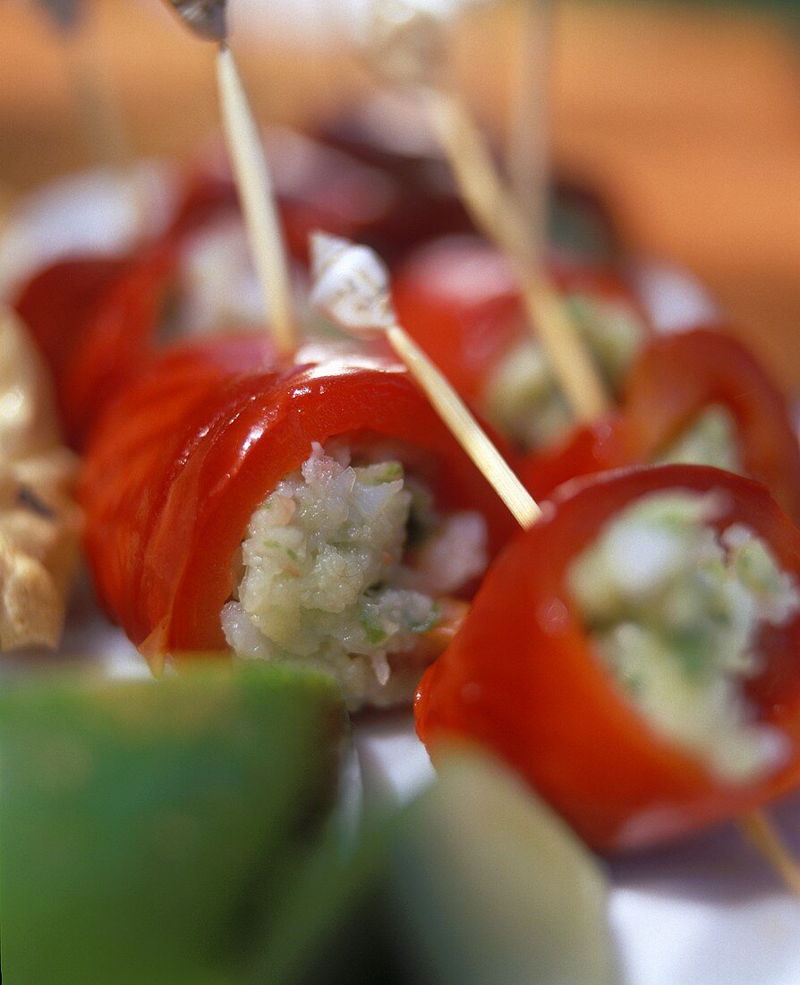 Pepper rolls with shrimp (Mauritius)