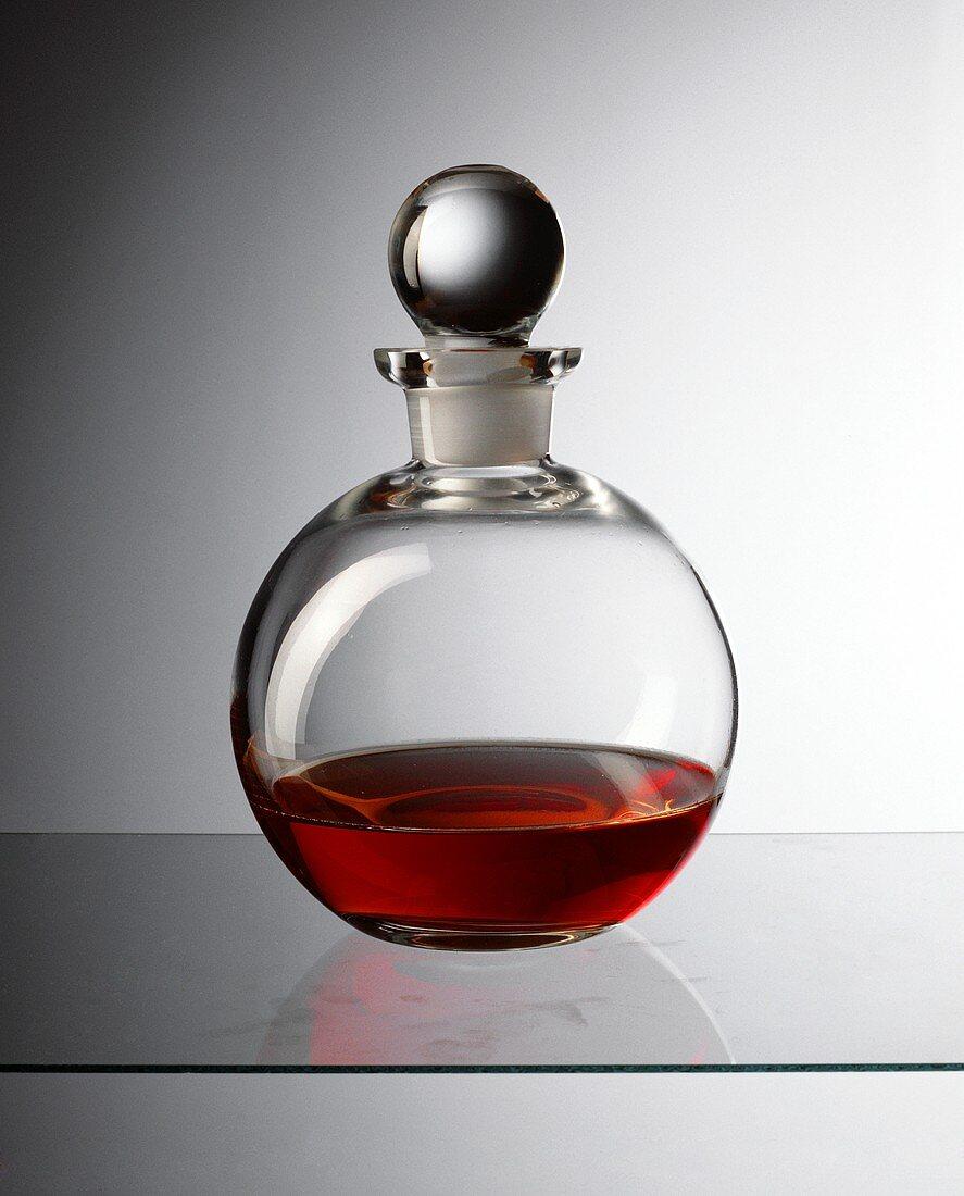 Vinegar in decorative bottle