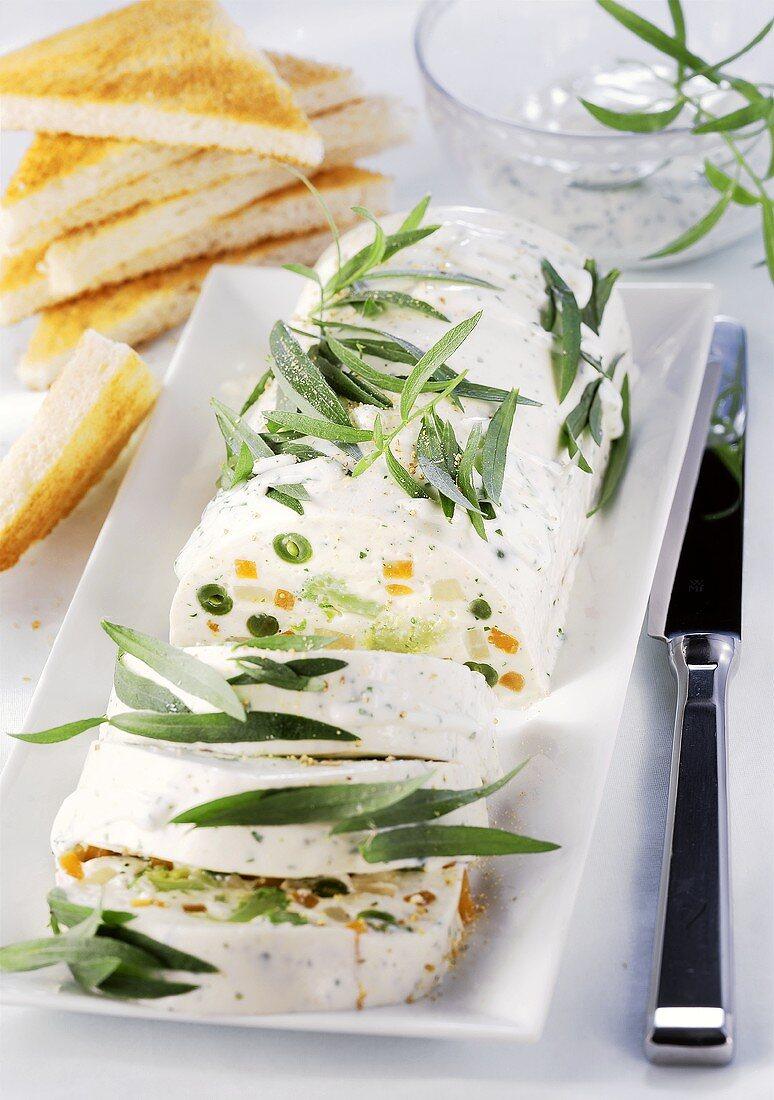 Vegetable terrine with tarragon