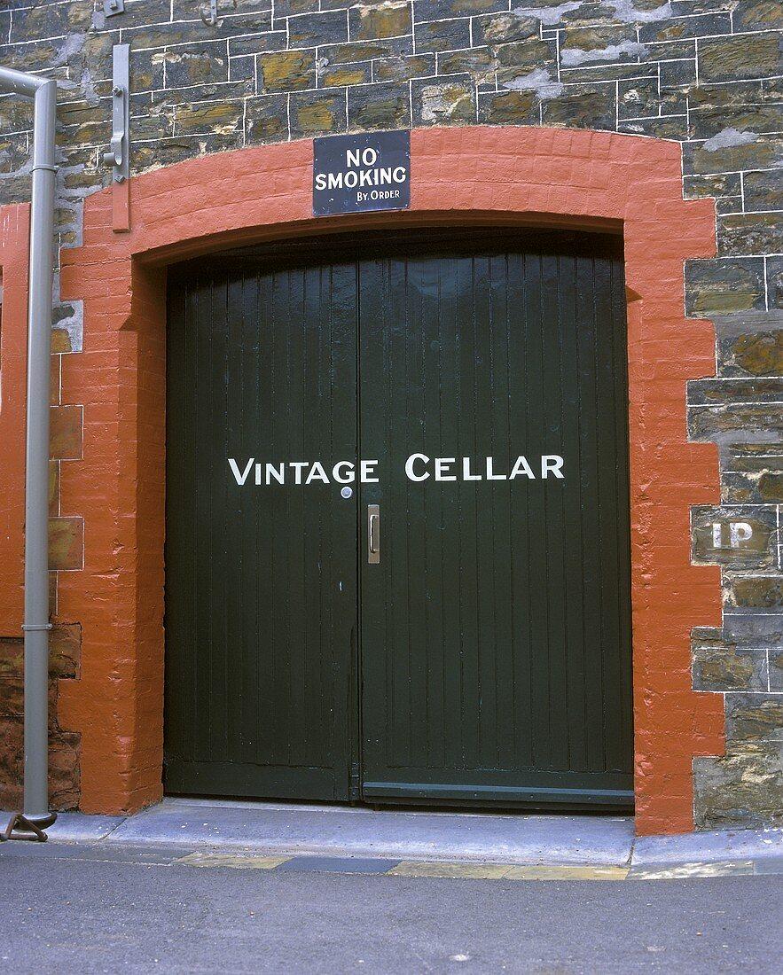 "Entrance to ""Vintage"" wine cellar, Magill, S. Australia"