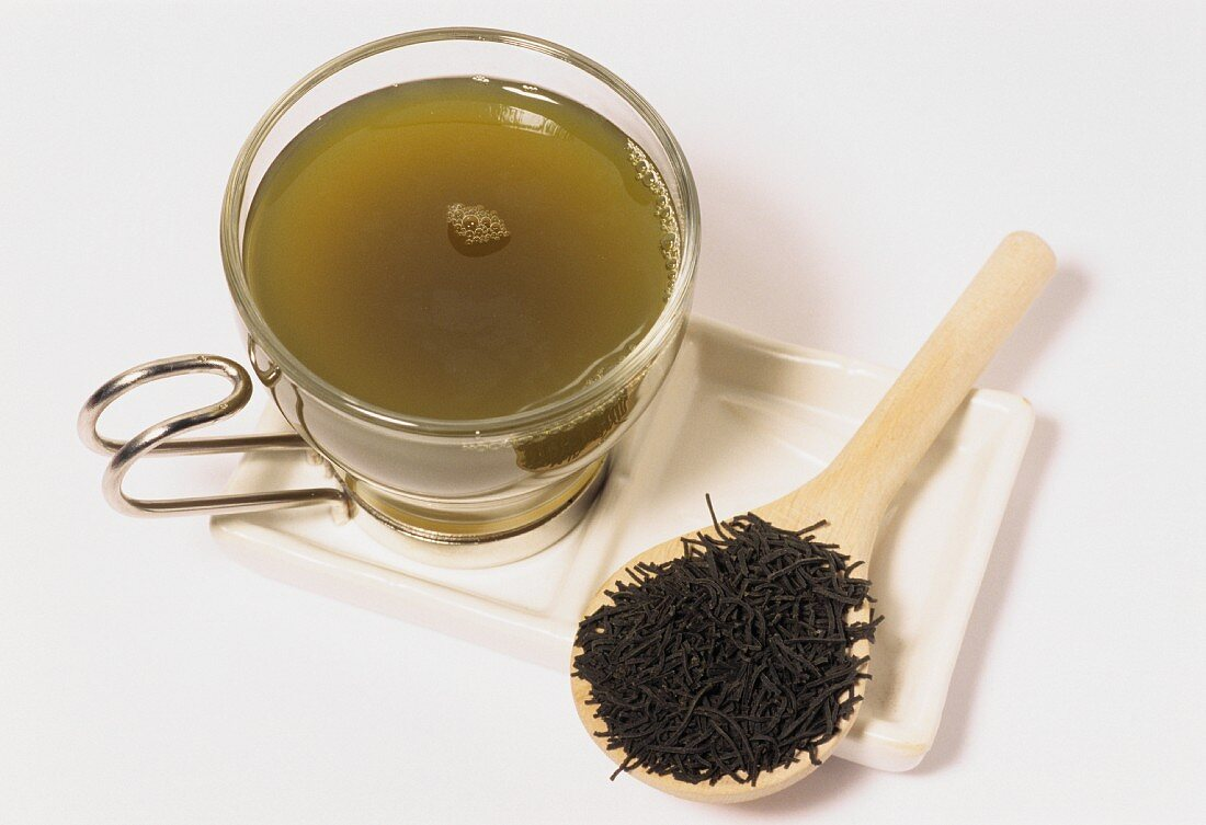 Japanese kokaicha tea