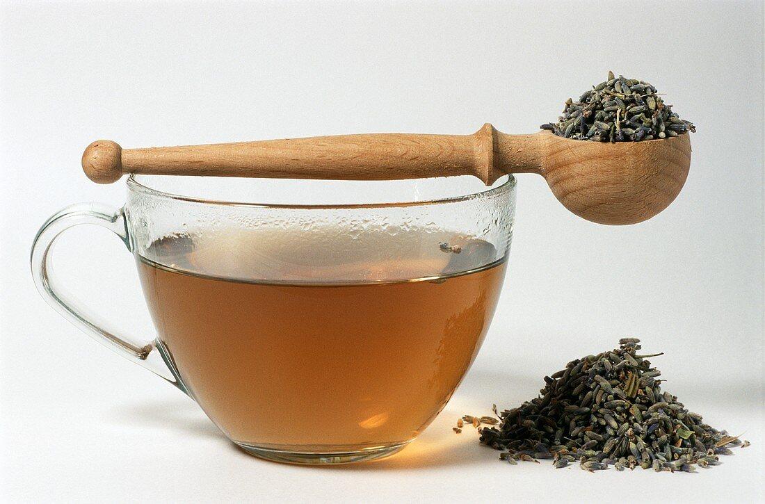 Lavender flower tea (Lavendula angustifolia)