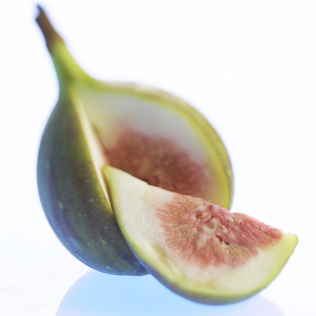 Fig, cut open