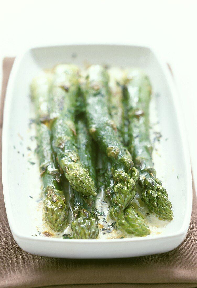 Asparagi verdi gratinati (Gratin of green asparagus)