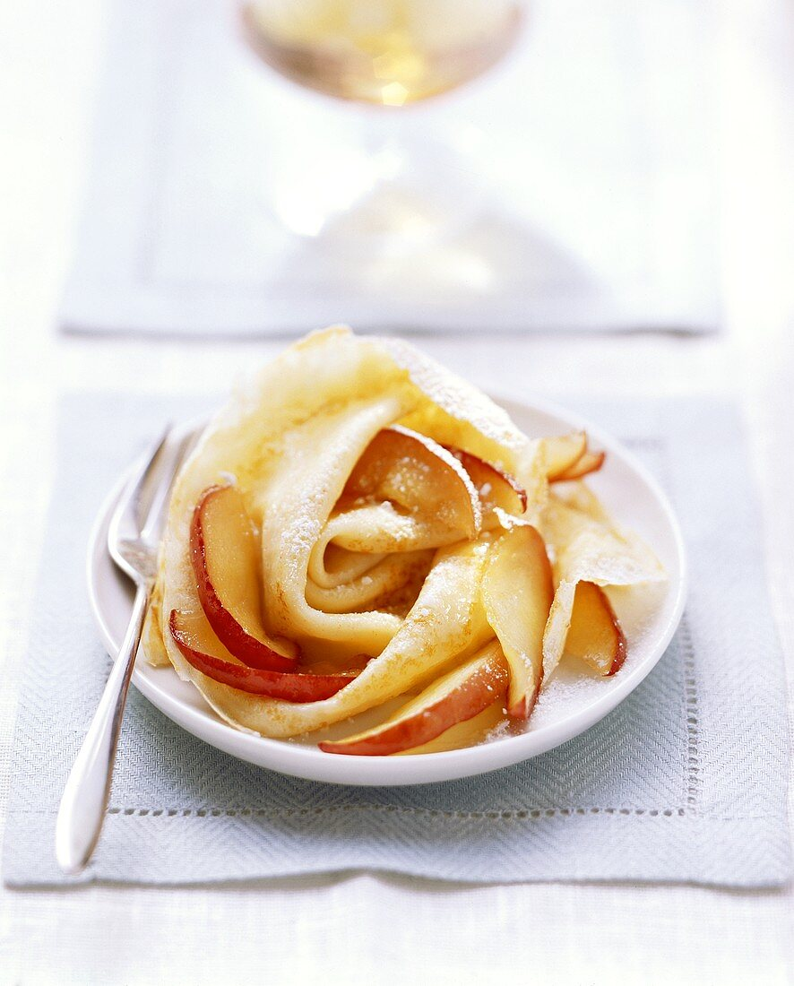 Crepes with Calvados apples