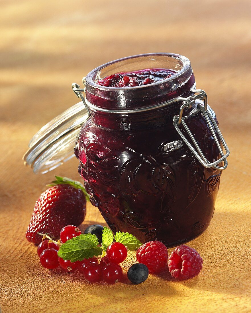 Mixed berry preserve
