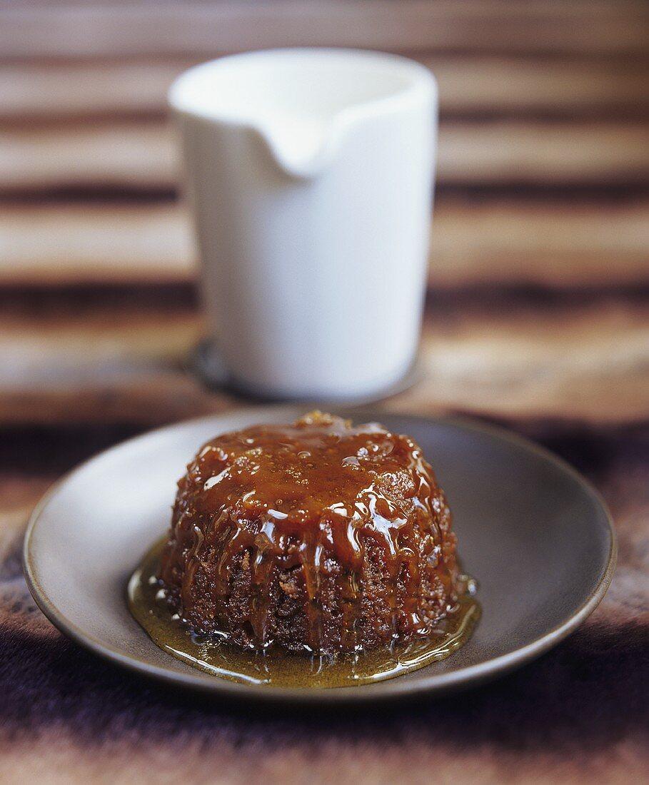 English treacle sponge pudding