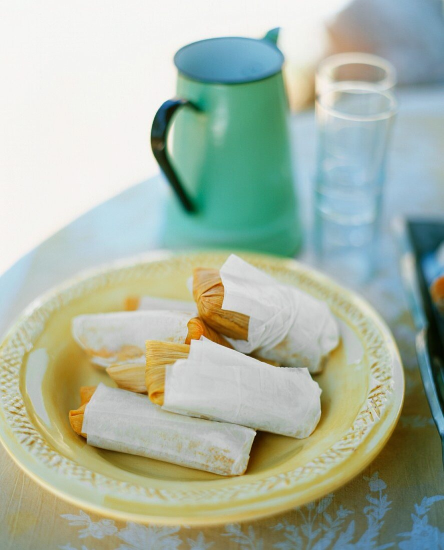 Tamales (stuffed maize leaves, popular all over S. America)