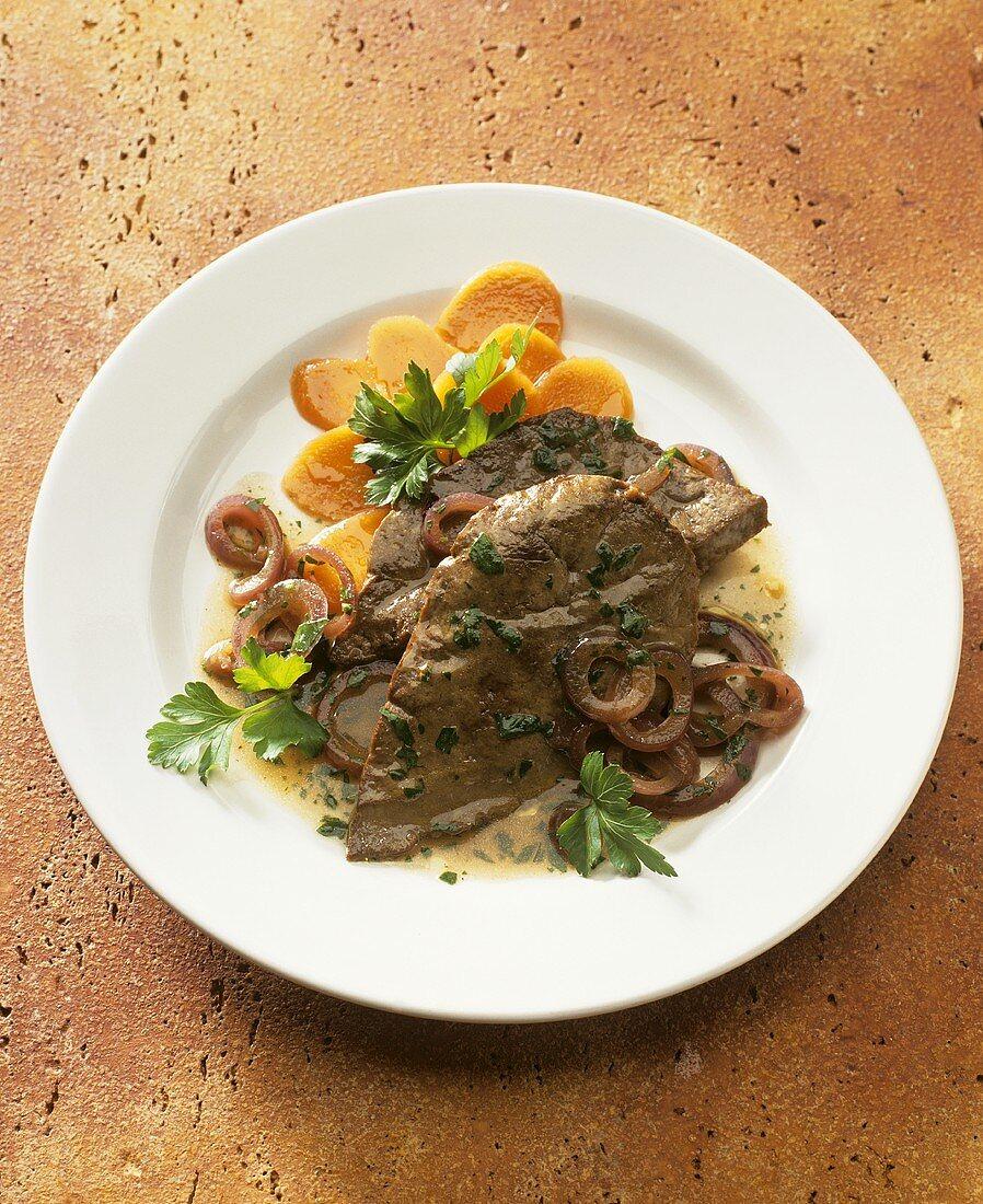 Fegato alla veneziana (sweet & sour calf's liver)