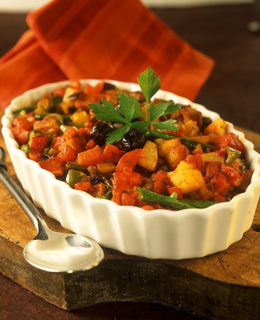 Turkish style potato and vegetable casserole