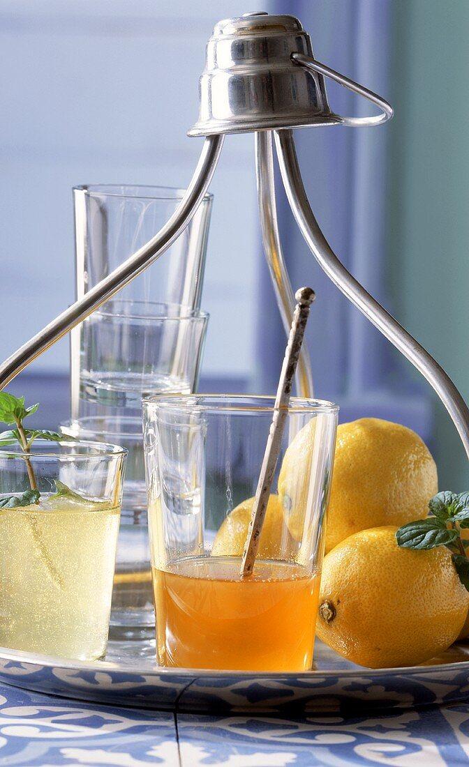 Turkish lemon sherbet (syrup drink)