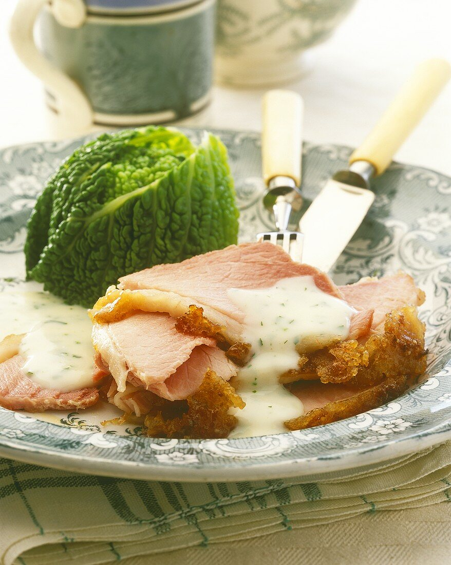 Irish bacon and cabbage (dish for St. Patrick's Day, Ireland)