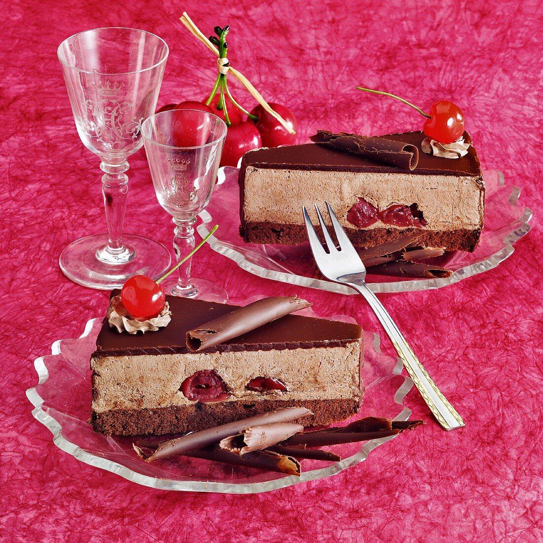 Hungarian chocolate cherry cake (Lúdlábtorta)