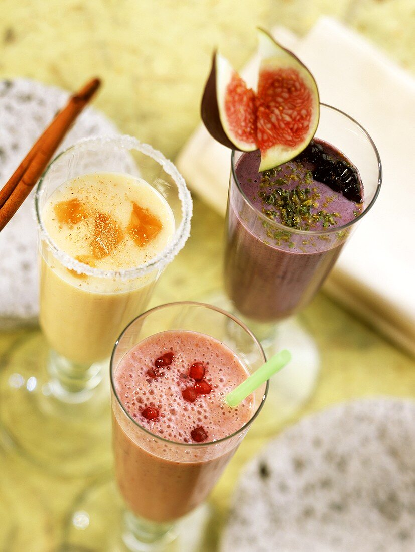 Quince-, plum & cranberry- and blackberry & fig shake