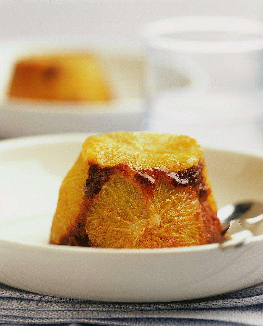 Chocolate orange blancmange