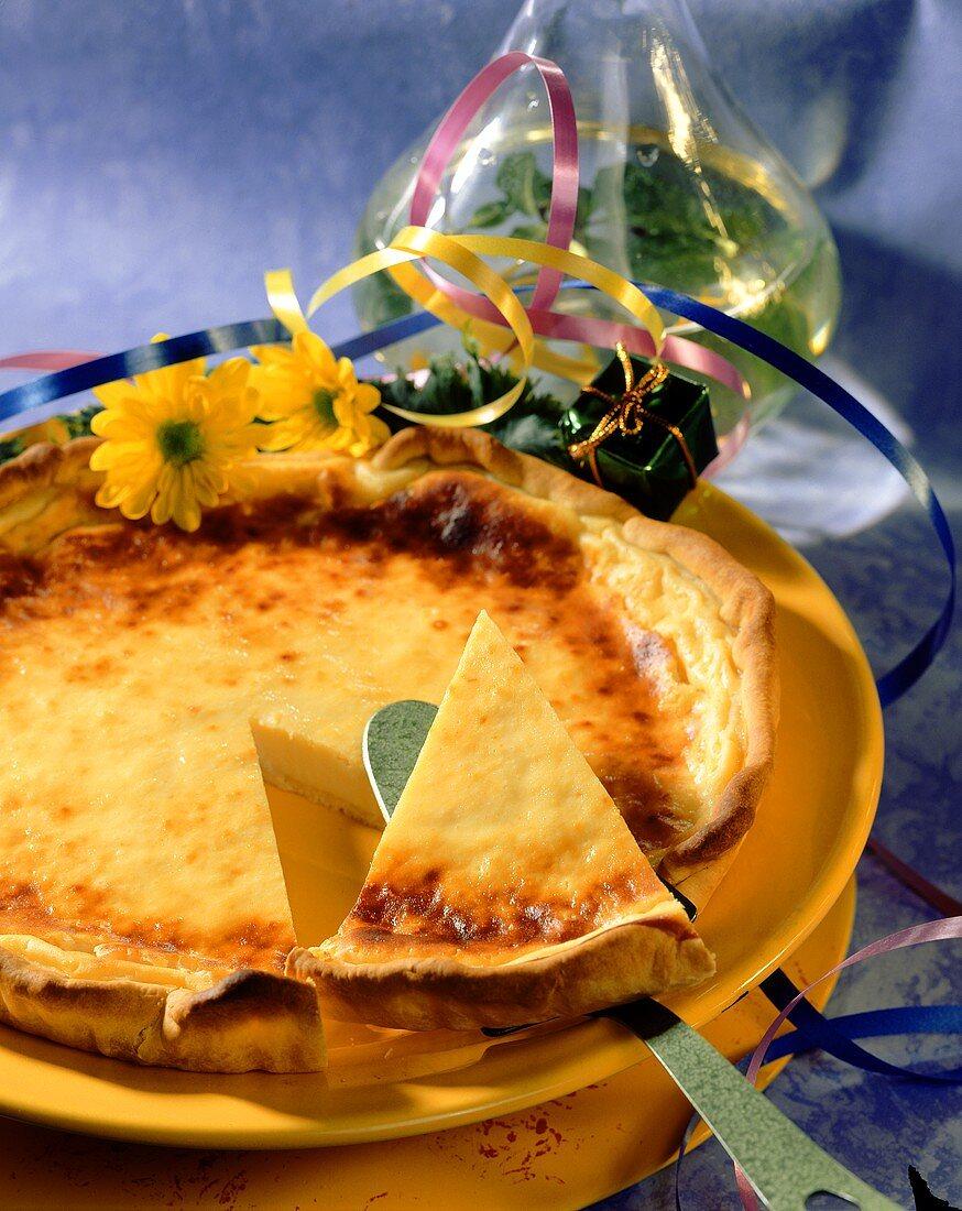 Tarte au flan (blancmange tart, France)