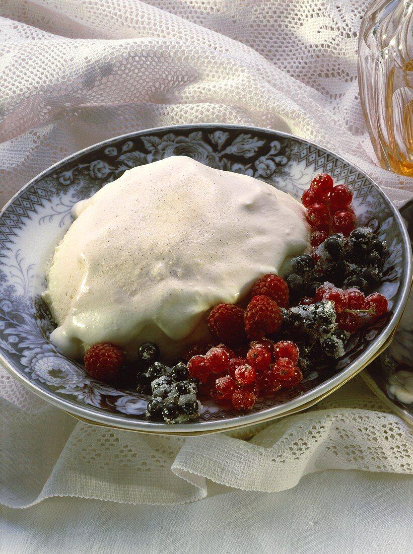 Crémets d'Anjou (frozen whipped dessert, Anjou, France)