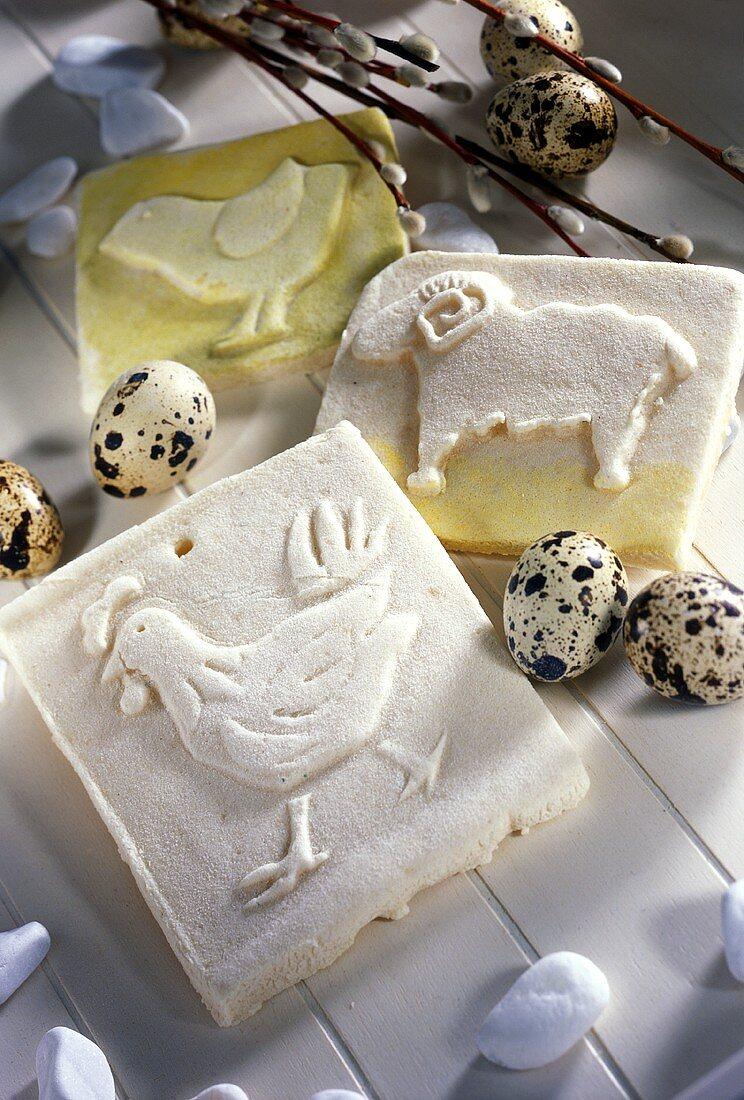 Decorative salt dough tiles for Easter