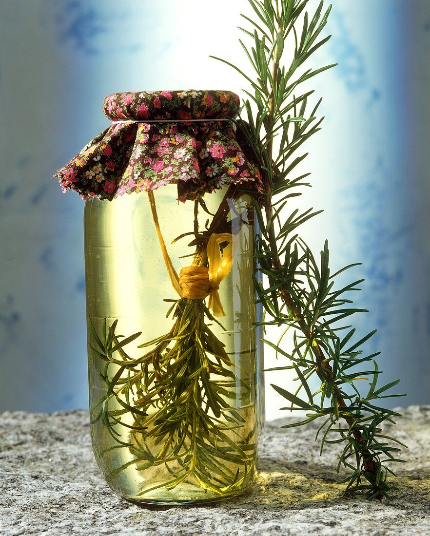 Rosemary wine (effective tonic and old household remedy)